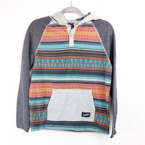 Empyre long sleeve multicolored hoodie Sz XL